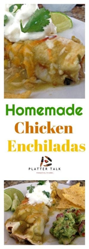 This simple homemade chicken enchiladas recipe is sure to be a family favorite in your home.