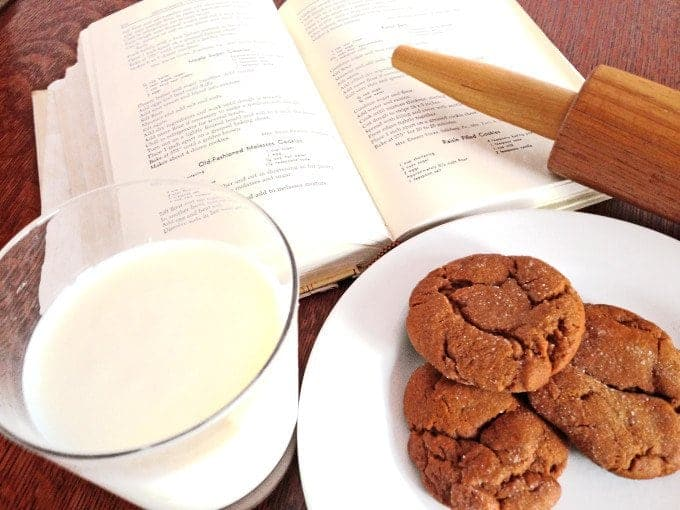 Old-Fahsioned Molasses Cookies Recipe from Platter Talk