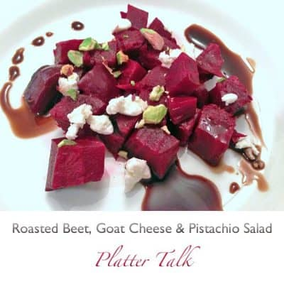 Roasted Beet, Goat Cheese, and Pistachio Salad