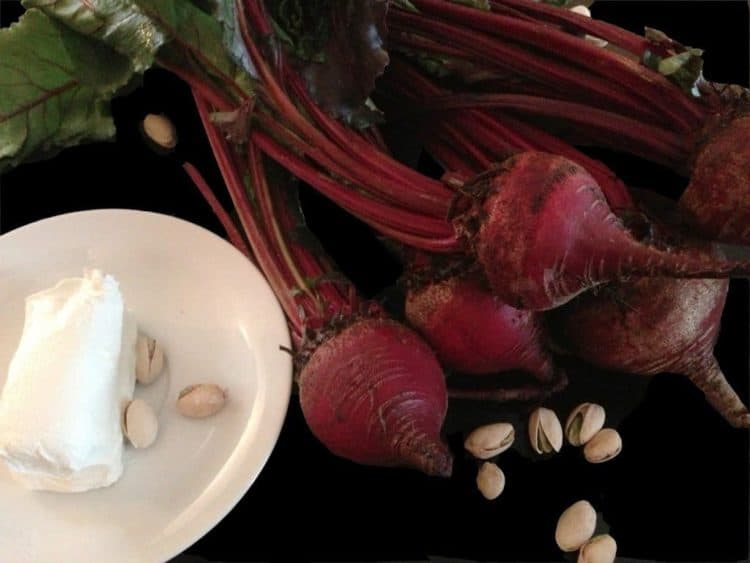 Fresh beets on a table