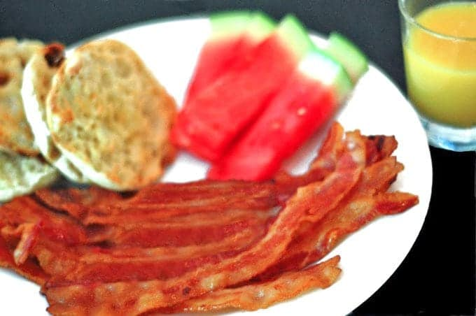 Oven-Fried Bacon on Platter Talk