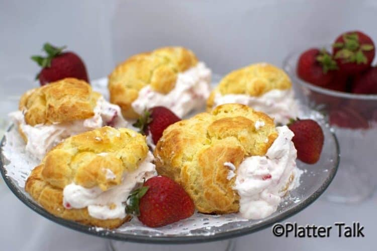 Strawberry State Fair Cream Puffs