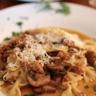 Mushroom and Sausage Pasta