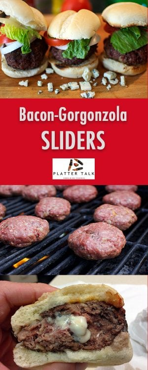 Bacon & Gorgonzola Cheese Sliders