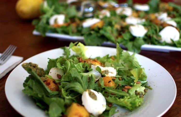 A big plate of green salad