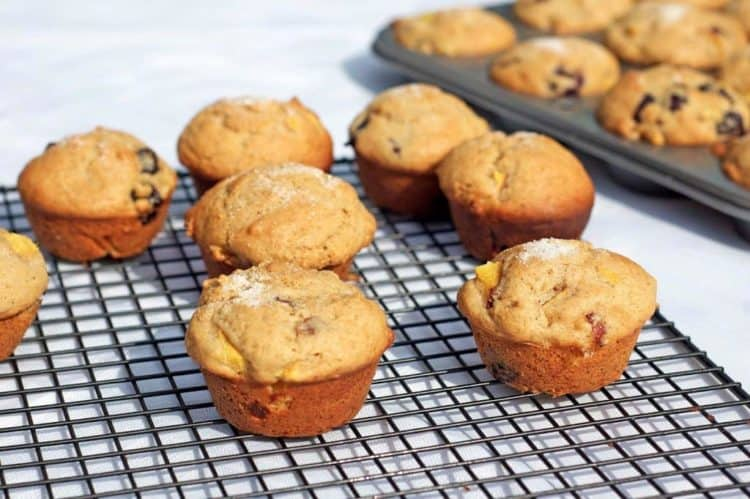 Muffins on a cooing rack
