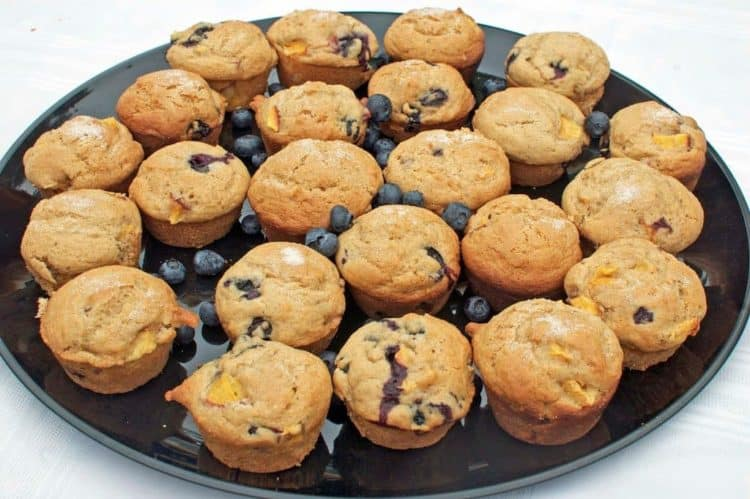 A tray of muffins