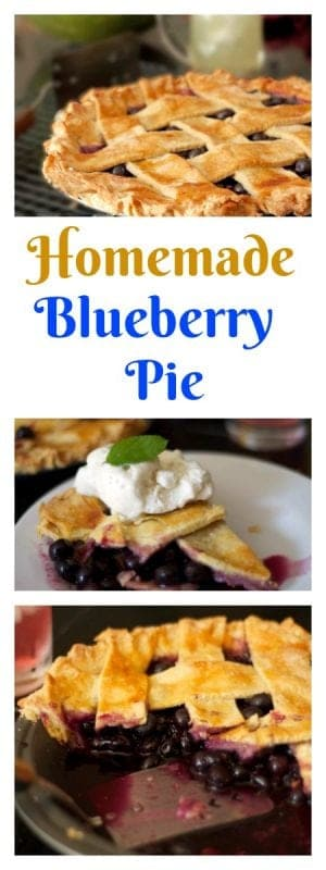 Homemade Blueberry Pie Recipe on the food blog Platter Talk