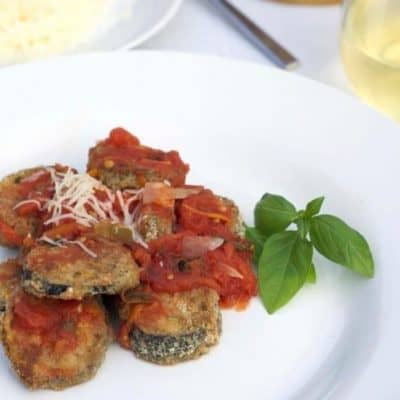 Baked Eggplant with Basil Marinara