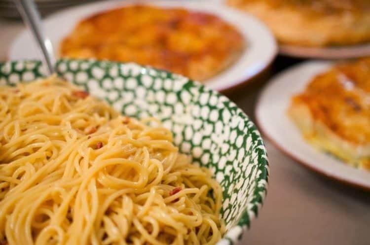 A bowl of Carbonara.