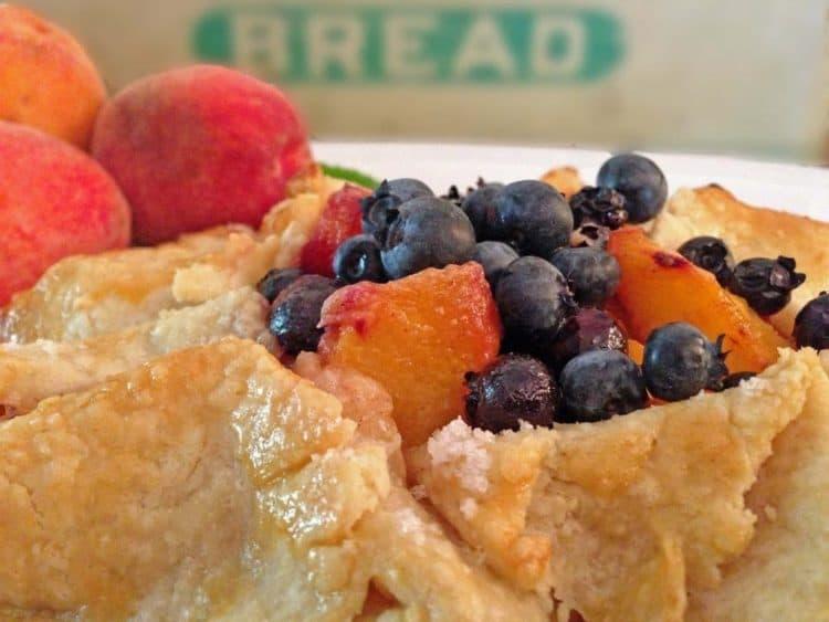 A close up of a fruit tart.