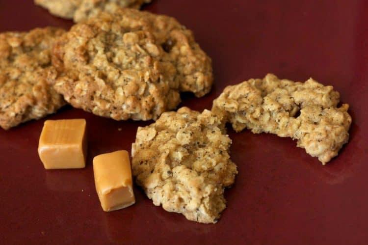 A plate of oatmeal chai cookies.
