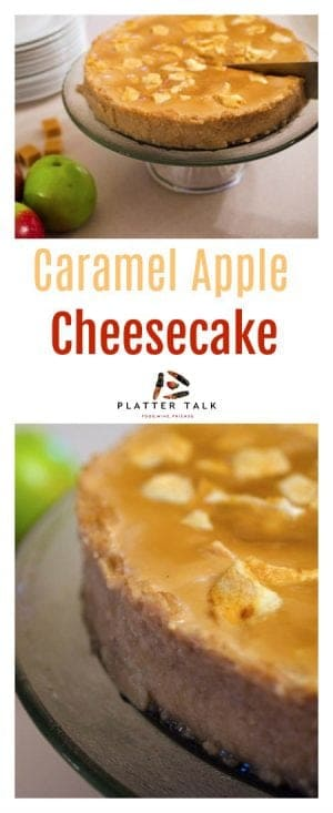 Caramel Apple Cheesecake Dessert is fabulous way to celebrtate autumn in taste and style.