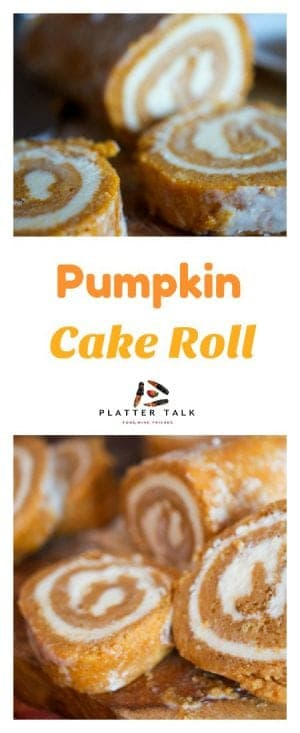 This Pumpkin Roll Cake Recipe is a fun and festive fall dessert that your kids will love to help you make. It's a great autumn treat and perfect for home, school, work or chuch!