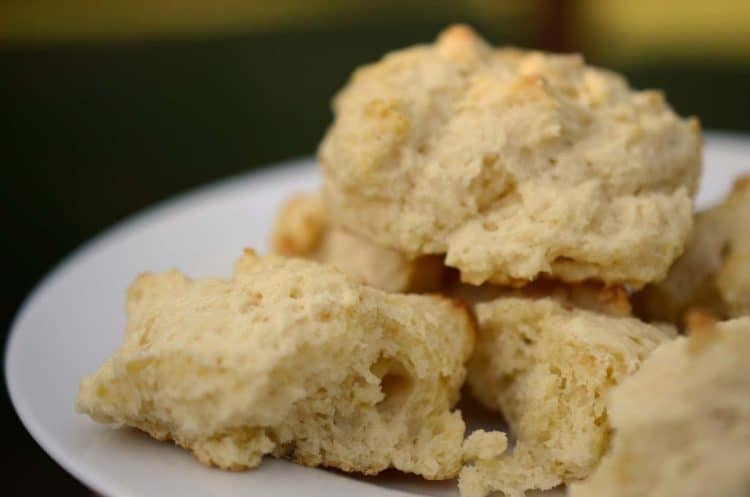 A close up of biscuits on a plate