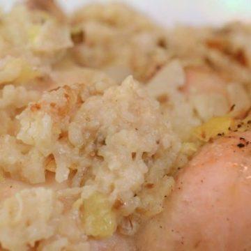 A close-up of rice.