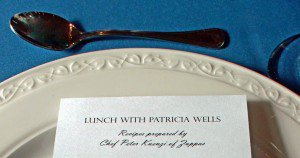 Lunch with Patrica wells.