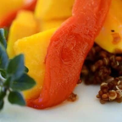 Butternut Squash Salad with Quinoa and Roasted Red Pepper
