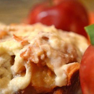 Apple fritter bread.