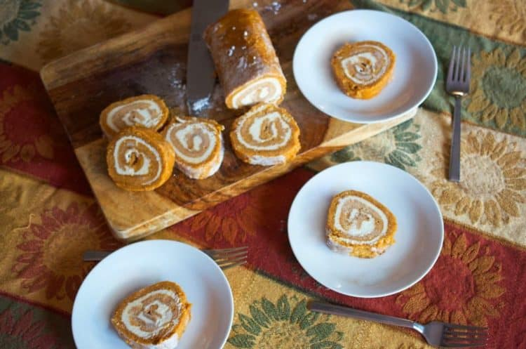 This pumpkin roll cake recipe is perfect for home or for a special get-together.