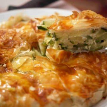 A slice of Italian savory pie
