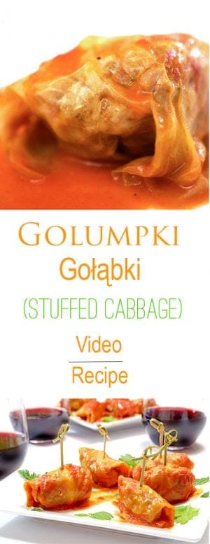 This authentic Golumpki (Gołąbki, Stuffed Cabbage) recipe and cooking video is a savory and comforting family recipe handed down through the generations to you.
