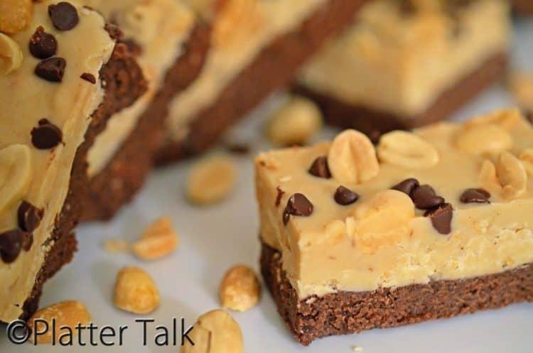chocolate hazelnut candy bars on a plate
