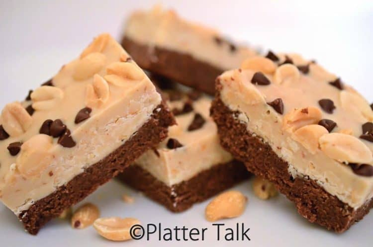 chocolate hazelnut candy bars stacked on a plate