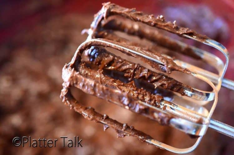 brownie batter on beaters