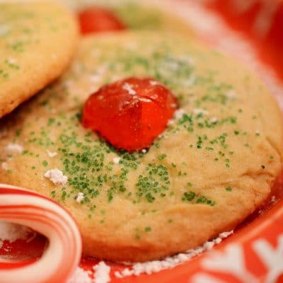 Cherry Red Nose Holiday Cookies