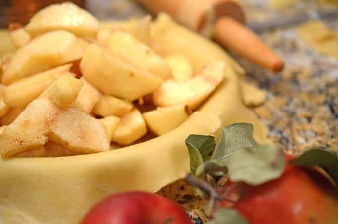 Use honey crisp apples for homemade apple pie filling.