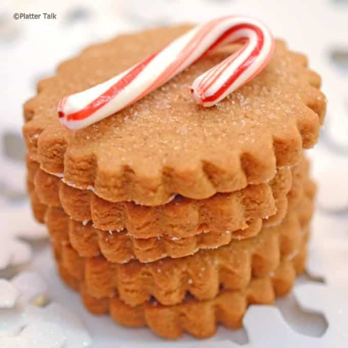 Ginger Holiday Cookies on Platter Talk