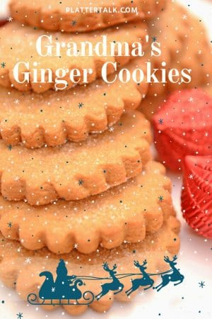Stack of ginger Chrristmas cookies