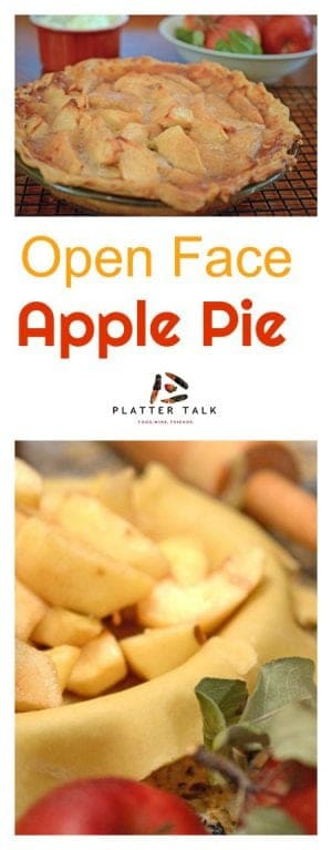 Open Face Apple Pie is a simple but delicious homemade pie recipe that uses just a single crust.