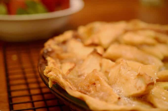 Dutch apple pie is a homemade apple pie