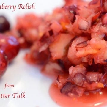 A close up of some cranberry relish
