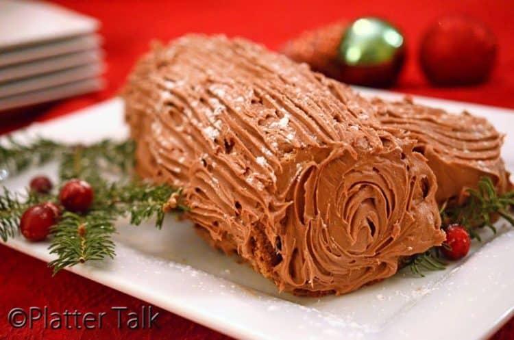 A cake on a plate.