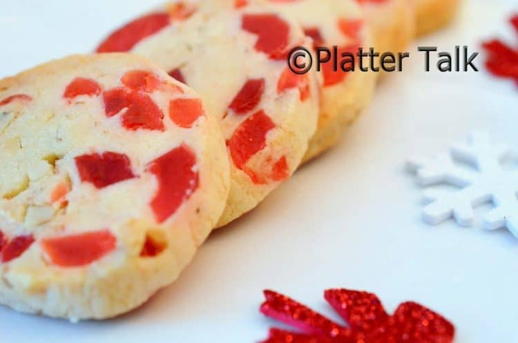 Old-Fashioined Cherry Christmas Cookiies
