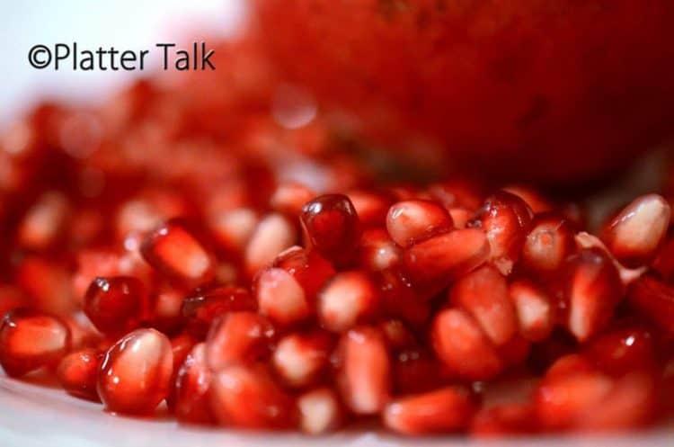 A close up of Pomegranate seeds