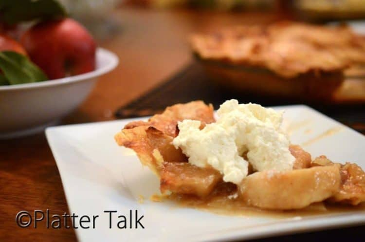 Open Face Apple Pie The Convertible of Apple Pies Platter Talk