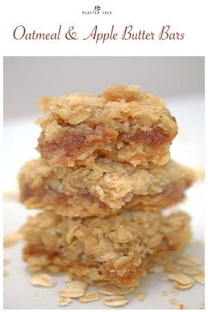 Oatmeal and apple butter bars on pinterest