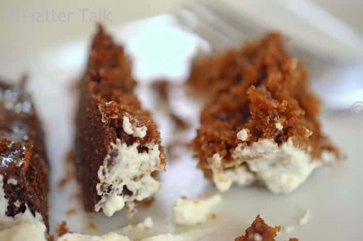 a close up of a ginger cake