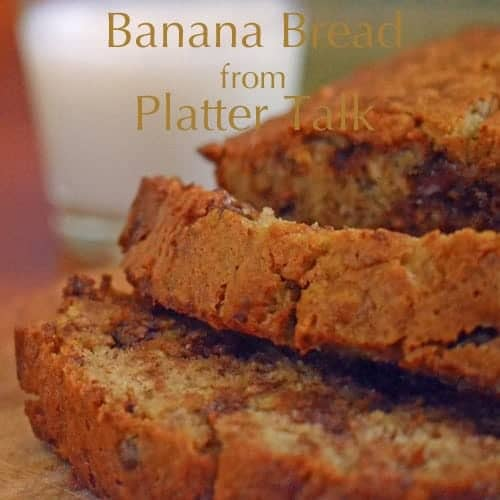 Banana bread is easy to make.