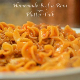 homemade beef a roni