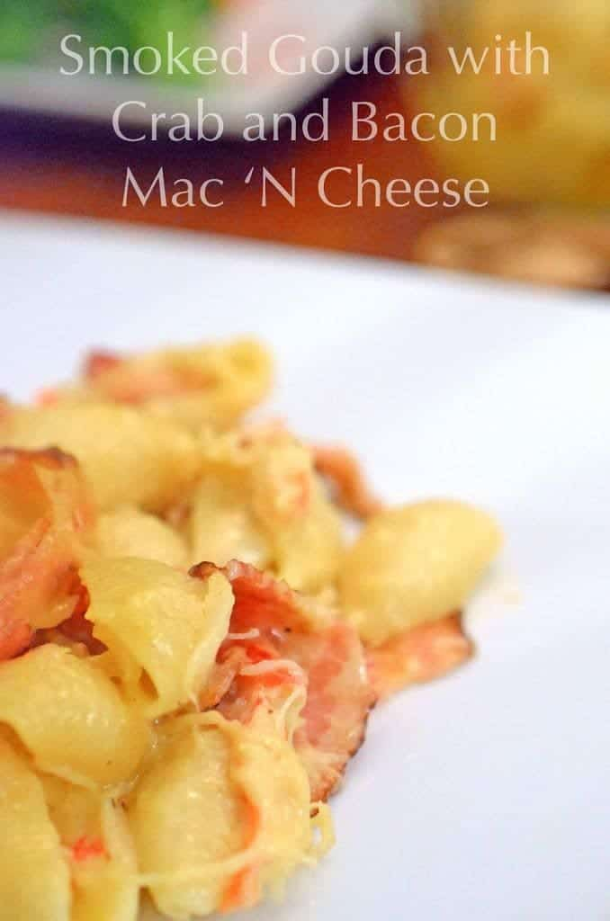 A close up of mac n cheese