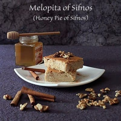 Melopita of Sifnos (Honey Pie of Sifnos)