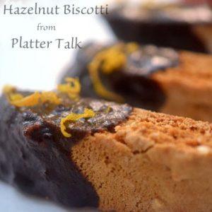 A close up of hazelnut biscotti.