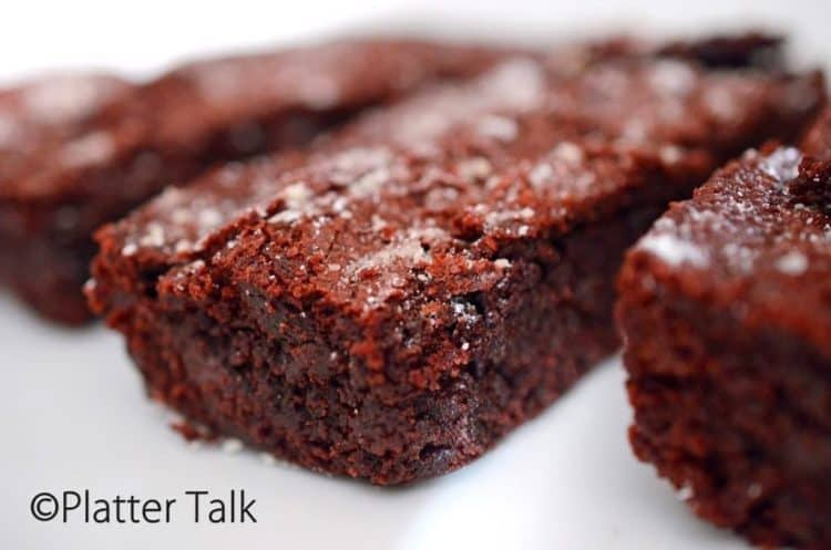 A close up of a brownie.