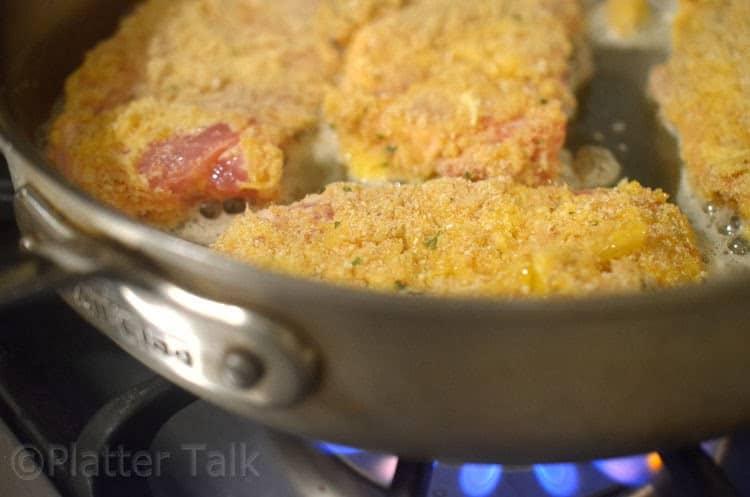 pork chops in a pan