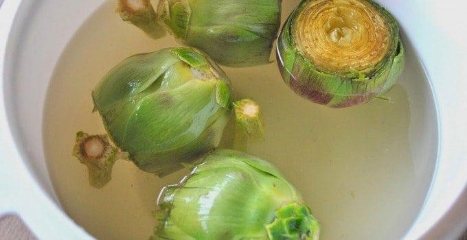 Garlic Sutffed Artichokes
